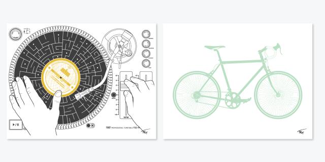 tekstartist turntable bicycle