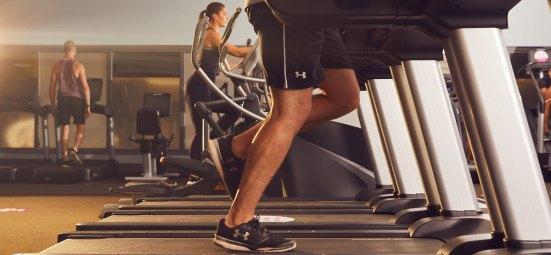 Image of members using treadmills at David Lloyd