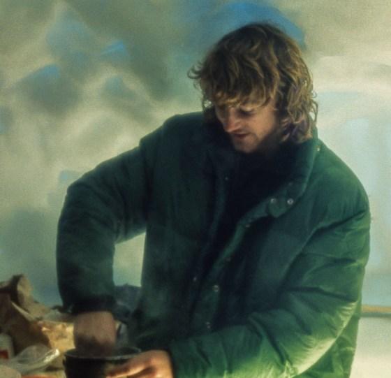 Ross in snowcave