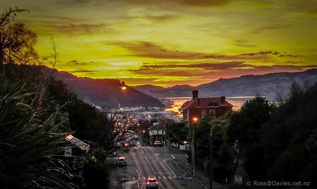 Sunrise over Dunedin