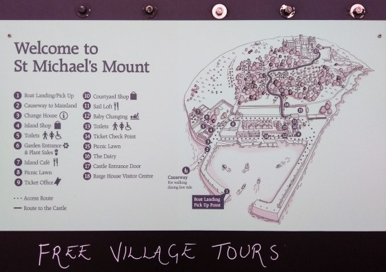 St Michael's Mount map