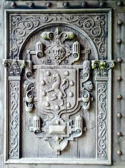 Lanhydrock House part of front door