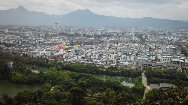 Lijiang City from Elephant Hill