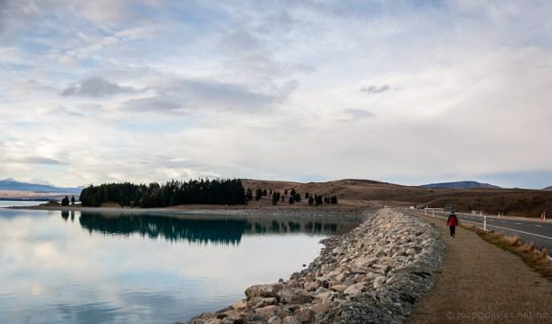 Back across the Lake Pukaki dam