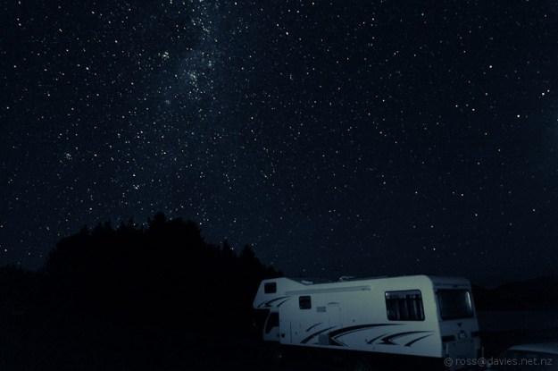 Night sky at Lake Pukaki