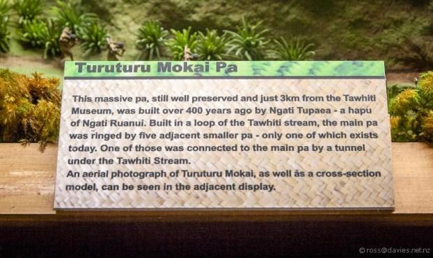 Tawhiti Museum diorama sign