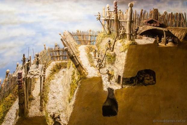 Tawhiti Museum diorama Maori pa defences
