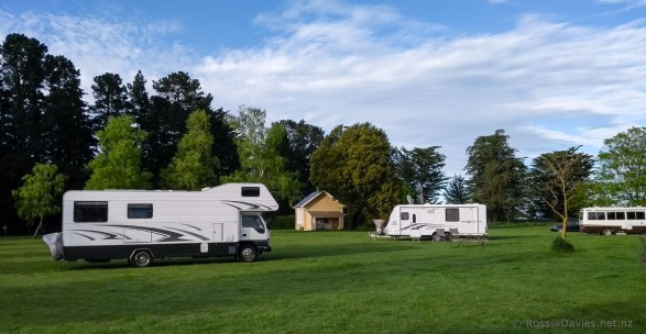 The motorhome park at Ealing
