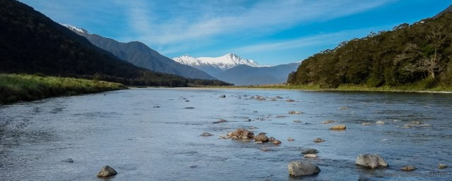 Mt Hooker and the Haast River