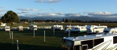 Parked up at the Racecourse at Blenheim
