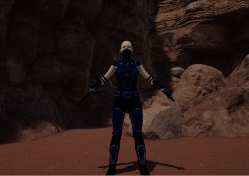 a daz character in the unreal level design