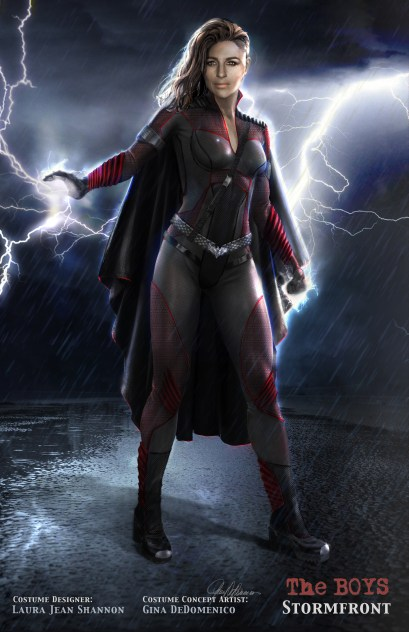 the costume design for Stormfront in The Boys