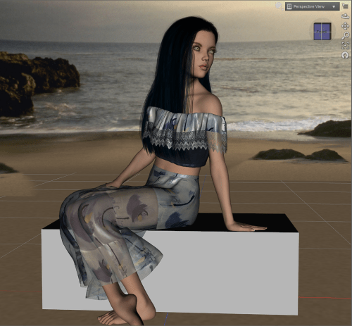 the final result using the mesh grabber add-on tool