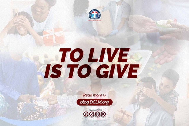 To Live Is To Give #InTheseTimes