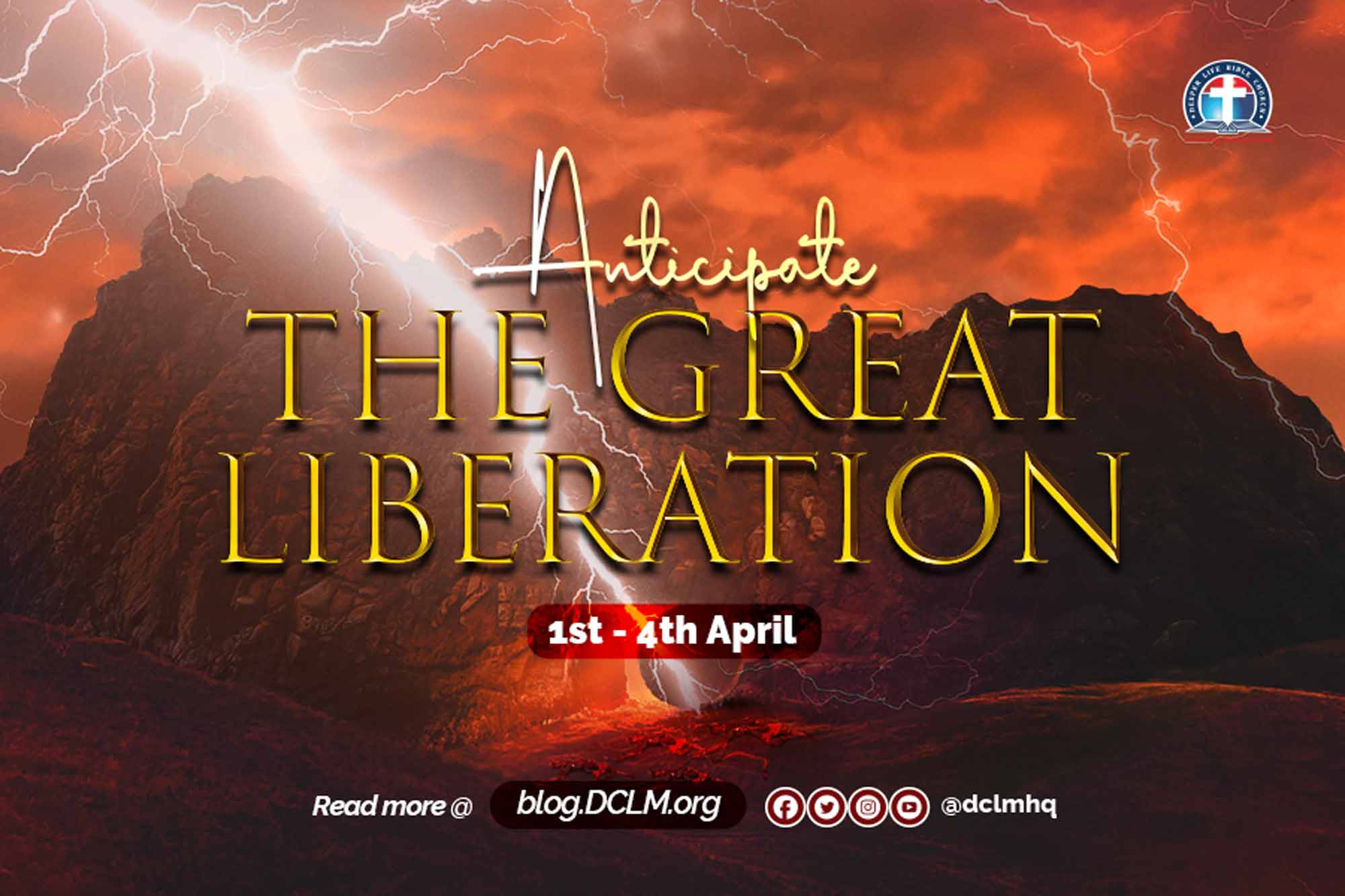 Anticipate, Anticipation, Great Liberation, The Great Liberation, Deeper Life Easter Retreat, Easter Retreat, 2021 Retreat, Retreat 2021, DLER2021, 2021DLER, Retreat,