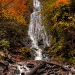 Early Autumn Mingo Falls 24 x 26 Gallery Wrap Canvas Premium Gloss