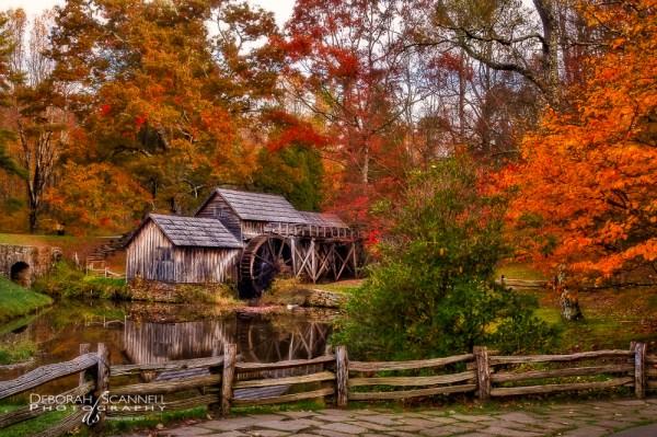 Mabry Mill Autumn Morning