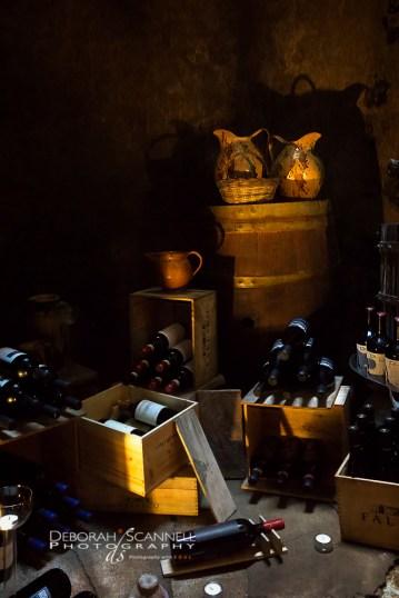 Civita di Bagnoregio, Italy, wine cellar