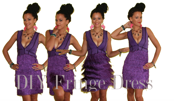 how to make a party fringe dress