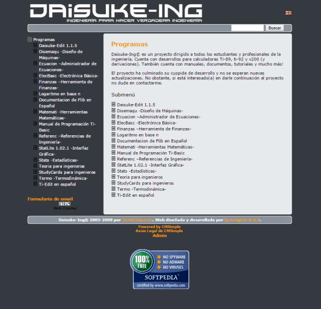 Daisuke-Ing's Website (CMSimple)