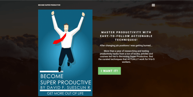 Become Super Productive Launch Page (mobirise)
