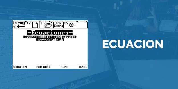 Ecuacion, equations manager