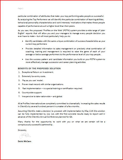 Writing A Business Proposal Template Investment News  Business