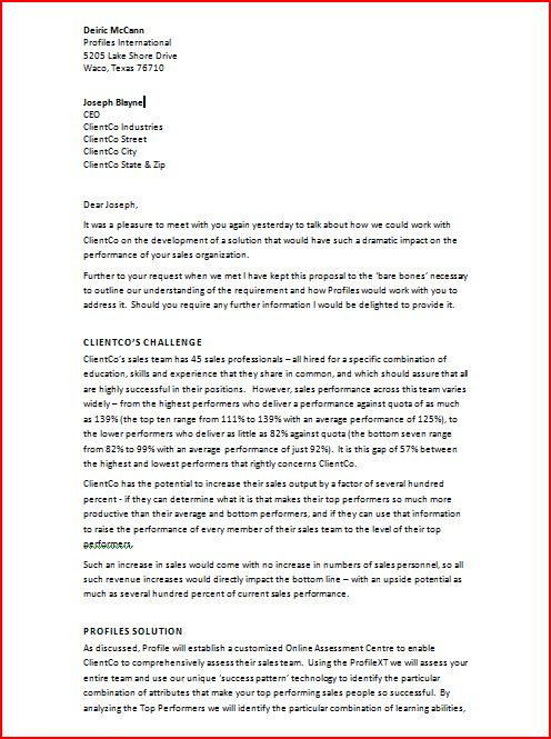 Business proposal writing template small companies Business – Formal Business Proposal Format