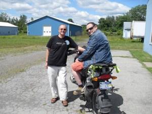 Photo of Rich Siegel (right) and Gilad Atzmon in Geneva, NY