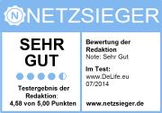 Auszeichnung für DeLife! Unser Online-Shop erhält das Redaktionssiegel von Netzsieger.de!