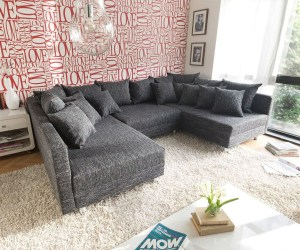 Sofa Clovis in Schwarz