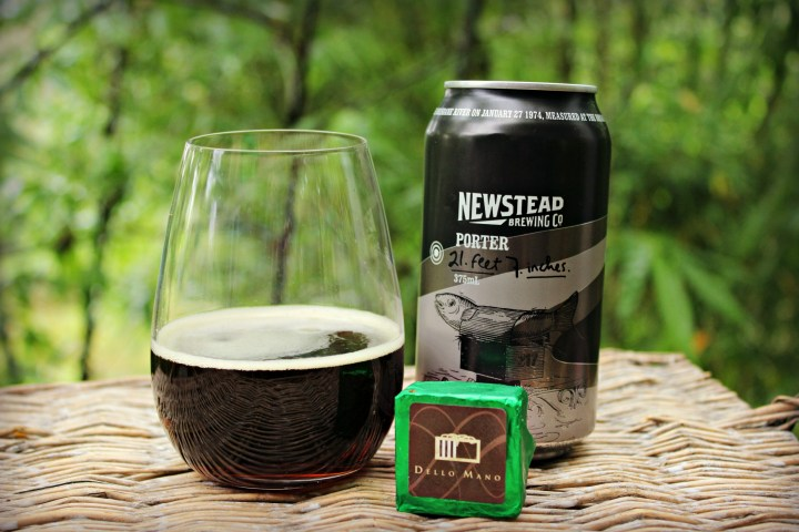 Dello Mano Christmas Brownie with Newstead Brewery Porter