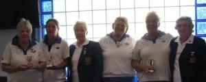 D. Johns, B Thompson, D Phillips and J Benke winners 2013 Past Presidents Trophy