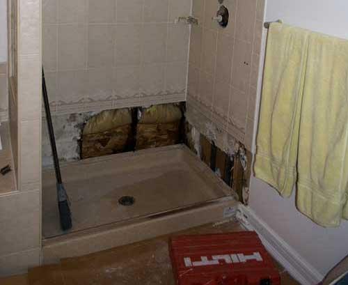 Broken shower