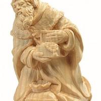 Re Magio scolpito in legno di cirmolo