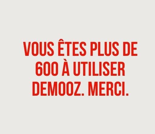 600 fois : MERCI !