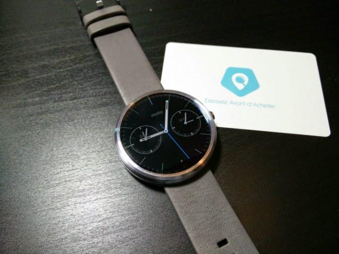Testez la montre connectée Moto 360