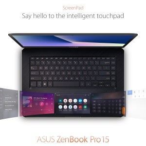 Description du ScreenPad de l'Asus ZenBookPro15