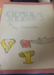 My school project on superhero origins, inspired by Avengers #147