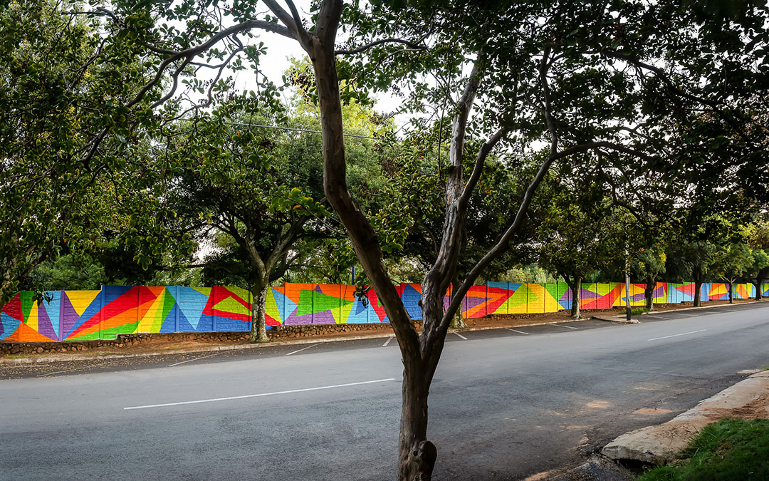The happy wall, a tribute to our Rainbow Nation