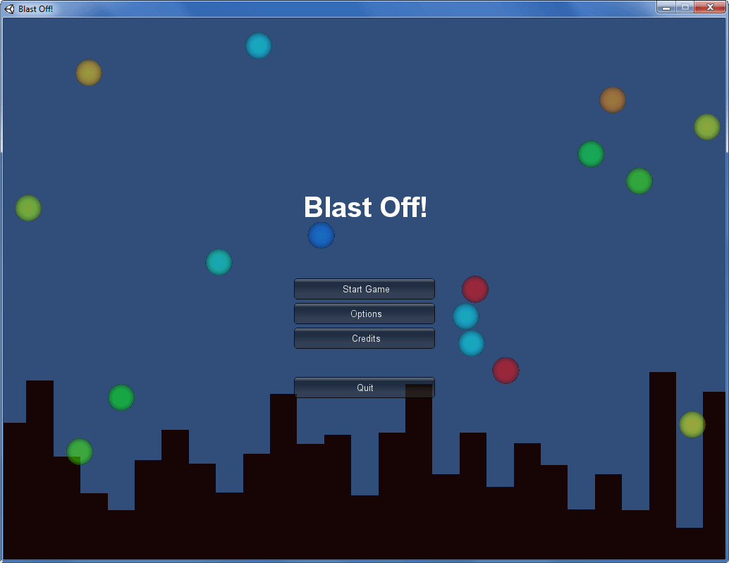 Blast Off! Title Screen