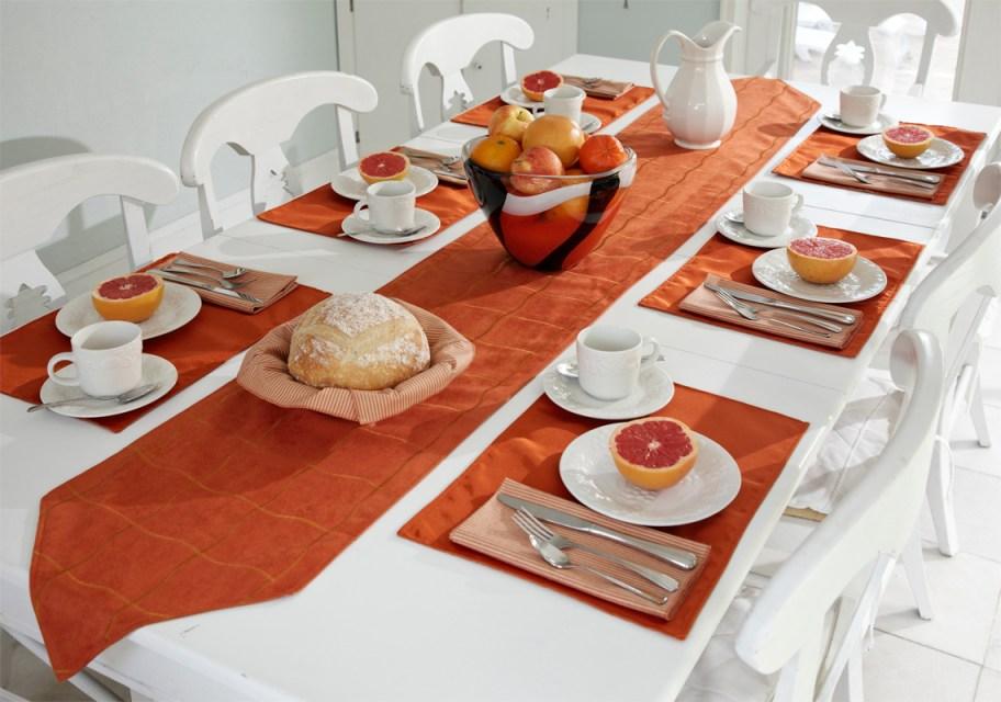 Fall breakfast table setting