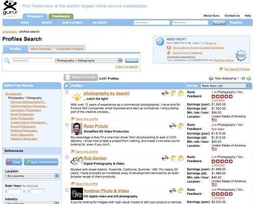 Guru.com ranks Photography by Depuhl as #1 photography provider