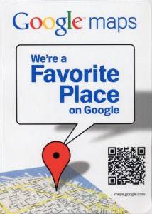 We're a favorite place on Google