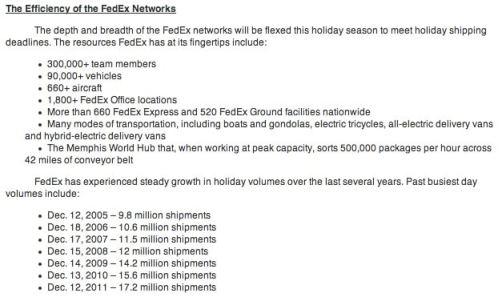 FedEx Efficiency