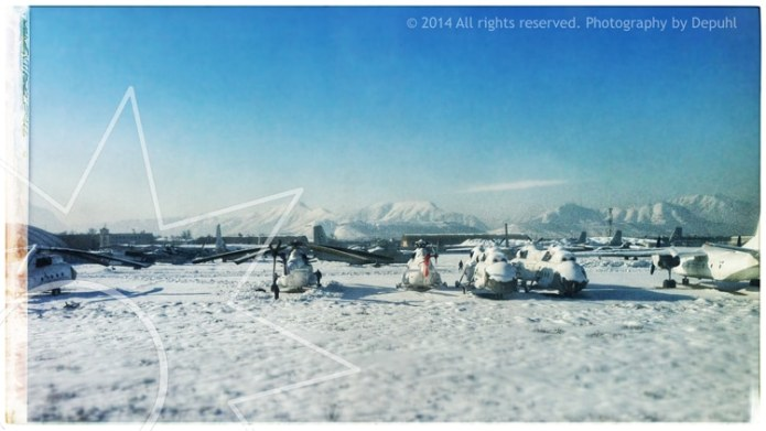 Snowed in Kabul Airport