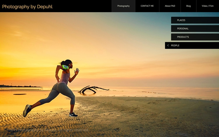 Running on the perfect beach: Advertising Photography