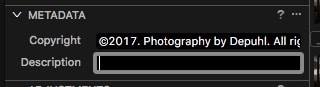 Change copyright info in Capture One import as well.