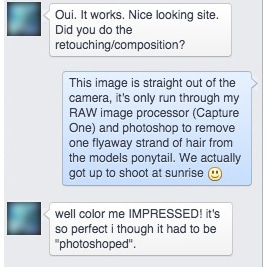 Bob compliments my brand