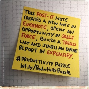 Productivity with a Post-It note